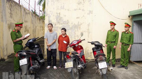 Hà Nam: Bắt đôi nam nữ chuyên trộm cắp xe máy