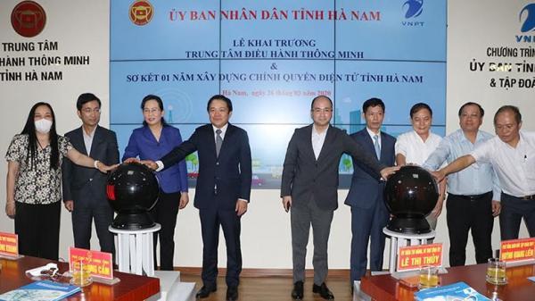 Trung tâm điều hành thông minh tỉnh Hà Nam chính thức đi vào hoạt động