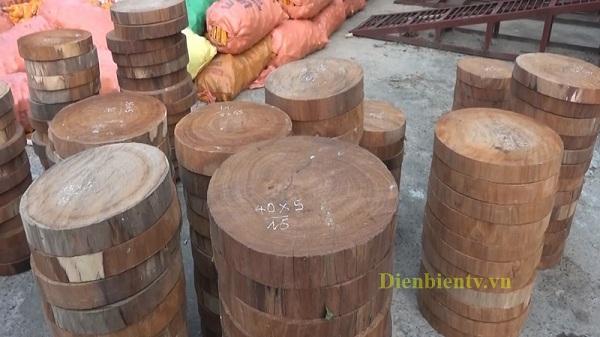 Tuần Giáo bắt giữ 187 lóng gỗ nghiến dạng thớt