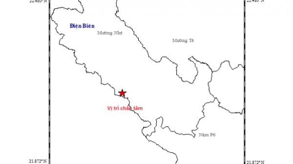 Xảy ra động đất cường độ 3,3 ở huyện Mường Nhé