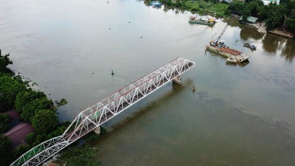 Cầu sắt trăm tuổi ở Sài Gòn sau hai tháng tháo dỡ