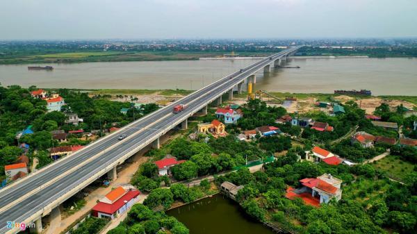 Cận cảnh cây cầu 2.800 tỷ nối thẳng Hưng Yên - Hà Nam