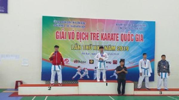 Điện Biên giành 1 Huy chương Bạc giải vô địch trẻ Karate toàn quốc 2019