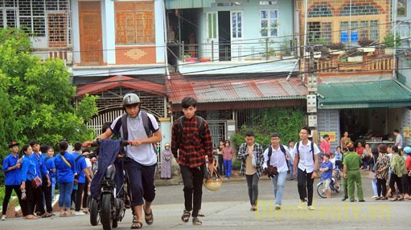 Điện Biên: Không khí buổi thi đầu tiên