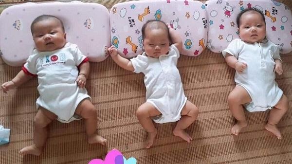 Ninh Bình: Vỡ òa hạnh phúc đón ba công chúa sau 12 năm hiếm muộn