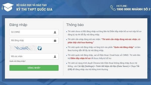 Cách tra cứu điểm thi THPT quốc gia 2019 tỉnh Điện Biên