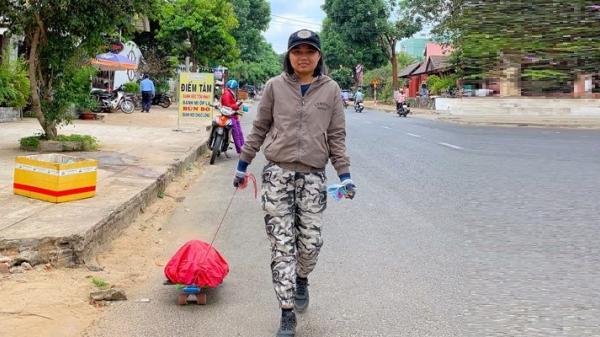 """Cô gái trẻ Trà Vinh đi bộ xuyên Việt trong 51 ngày: """"Khả năng con người là vô hạn"""""""