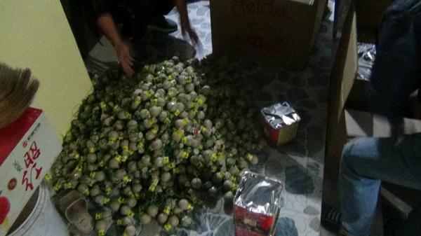 Ninh Bình: Công an huyện Yên Khánh thu giữ 58,4 kg pháo các loại