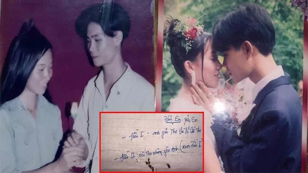 Con gái khoe ảnh bố 20 năm trước, điển trai lãng tử cùng lá thư tay tán gái khiến thanh niên ngày nay thán phục