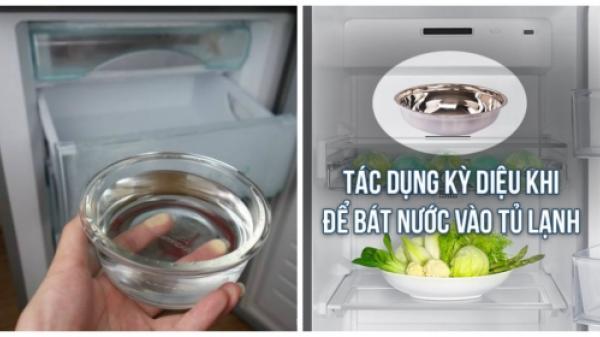 Để bát nước trong tủ lạnh chỉ sau 1 đêm ngủ dậy bạn sẽ thấy được điều vô cùng bất ngờ