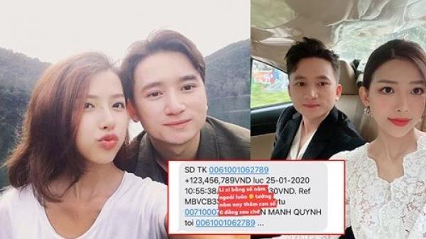 Phan Mạnh Quỳnh lì xì bạn gái số tiền 'khủng' 123,456,789 đồng