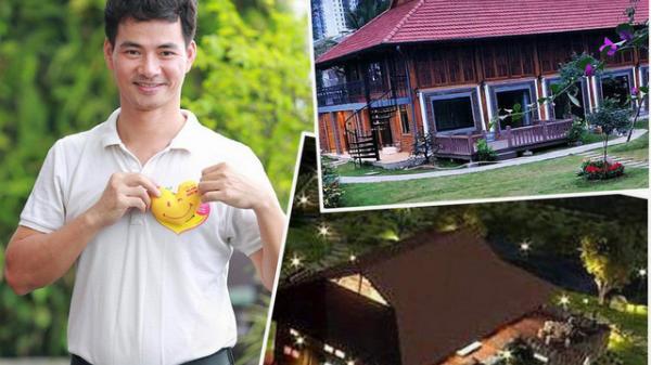 """Choáng với biệt phủ rộng thênh thang như resort của Xuân Bắc: Được xây bằng gỗ tự nhiên, nhìn toàn cảnh sân vườn thôi mà """"mê"""""""