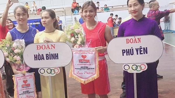 Đoàn VĐV tỉnh Hòa Bình giành 1 huy chương vàng tại Giải Vô địch Boxing trẻ toàn quốc 2019