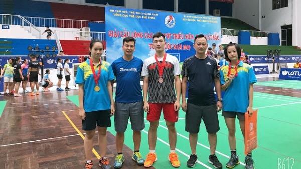 VĐV Điện Biên giành được 1 huy chương vàng tại Giải cầu lông các cây vợt thiếu niên, trẻ xuất sắc năm 2019