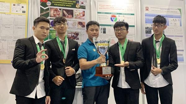Đoàn học sinh tỉnh ta giành huy chương vàng tại cuộc thi Olympic Phát minh và sáng chế thế giới (WICO)