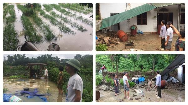 Một số hình ảnh ghi nhận tại Điện Biên do ảnh hưởng bão số 3