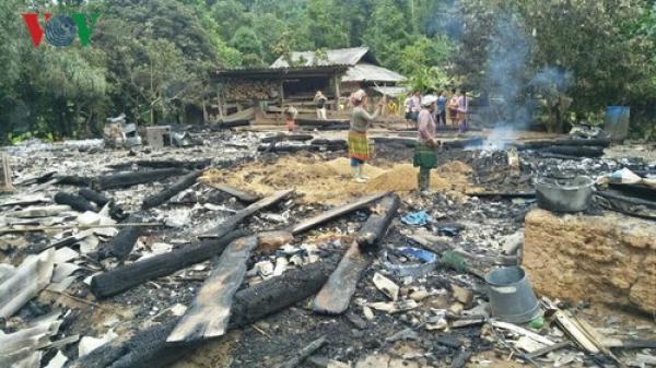 Điện Biên: Một ngôi nhà bị thiêu rụi hoàn toàn bởi nguyên nhân bất ngờ