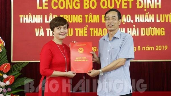 Hải Dương: Công bố quyết định thành lập Trung tâm Đào tạo, huấn luyện và thi đấu thể thao tỉnh