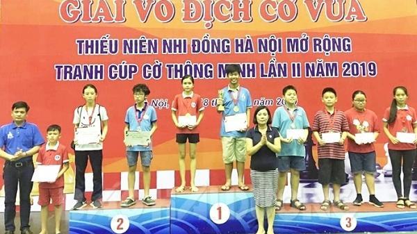 Giải vô địch cờ vua thiếu niên, nhi đồng Hà Nội mở rộng 2019: Kỳ thủ Hải Dương thi đấu xuất sắc