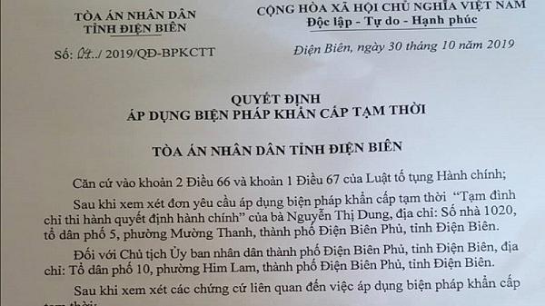 Điện Biên: Tạm đình chỉ Quyết định cưỡng chế đối với các hộ dân phường Thanh Trường