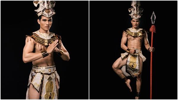 Nguyễn Văn Tuân lựa chọn quốc phục 'Con rồng cháu tiên', đại diện Việt Nam tham dự Mister Grand International 2019