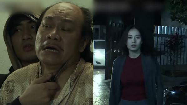 Cảnh kề dao bắt ông Cấn làm con tin, giải cứu Quỳnh ngoạn mục trong đêm