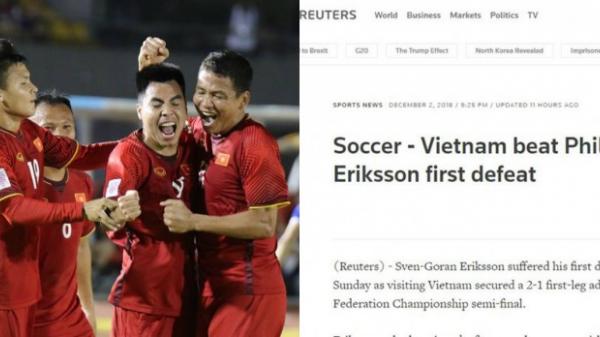 Truyền thông Anh cũng phải sững sờ với chiến thắng ấn tượng của ĐT Việt Nam trước Philippines