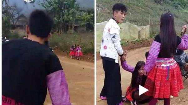 """Cảnh """"bắt vợ"""" giữa đường gây xôn xao của 3 chàng trai trẻ"""