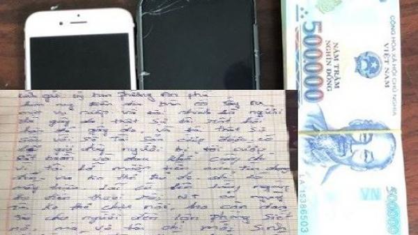 Tên c ướp âm thầm trả lại 100 triệu đồng cùng lá thư 'sám hối'