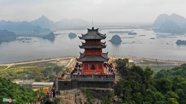 Ngôi chùa lớn nhất thế giới ở miền Bắc nhộn nhịp trước ngày khai hội