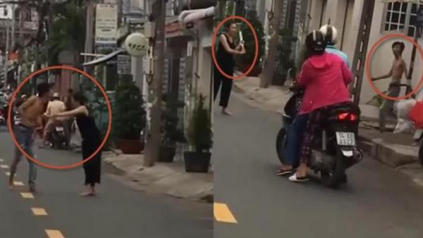 Clip KIN.H SỢ nhất đêm qua: Cô gái Sài Gòn ngáo đá vác da.o ra phố ché.m gục một gã nghiệ.n