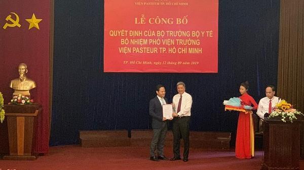 Con trai của Bộ trưởng Y tế được bổ nhiệm làm Phó viện trưởng Viện Pasteur TP.HCM