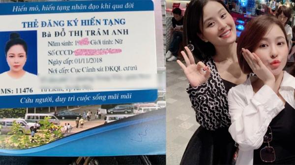 Tiếp tục trong 'hành trình trở lại', hotgirl Trâm Anh khoe ảnh đã đăng kí hiến tạng cứu người