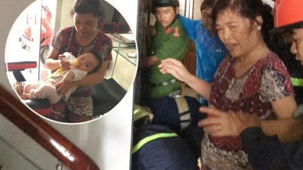 TP.HCM: Hai bà cháu mắc kẹt trong thang máy, bé trai 8 tháng tuổi khóc thét vì sợ hãi