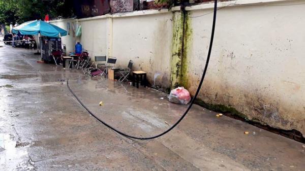 Đang uống cà phê bị dây điện rớt trúng người t ử vong ở Sài Gòn