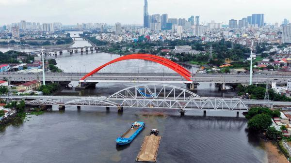Chuẩn bị thông xe Cầu sắt Bình Lợi bắc qua sông Sài Gòn
