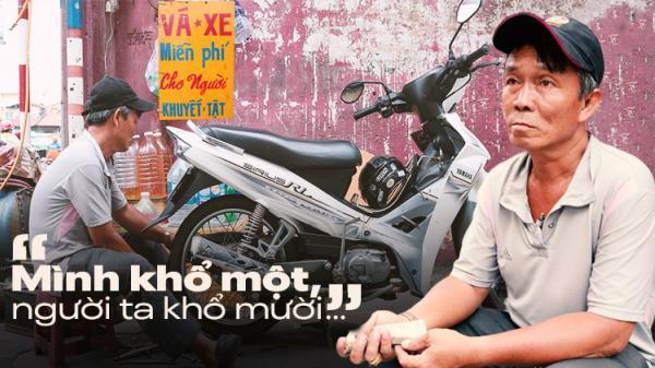 Chú Út Sài Gòn hơn 20 năm sửa xe, phát tang miễn phí giúp đỡ người nghèo khổ