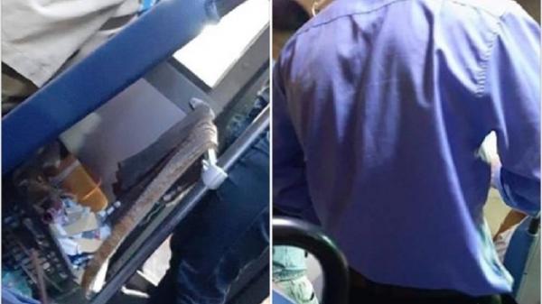 Tiếp viên xe buýt Sài Gòn vo tròn vé vứt sọt rác trước mặt khách