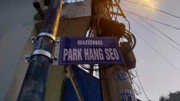TPHCM: Tháo dỡ bảng ghi tên đường mang tên HLV Park Hang-seo