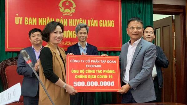 Tập đoàn Ecopark ủng hộ Hưng Yên 500 triệu đồng trong công tác phòng chống dịch Covid-19