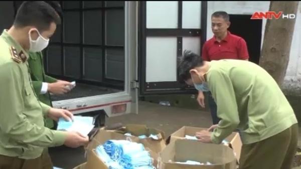 Hưng Yên: Phát hiện vụ vận chuyển khẩu trang không nhãn mác