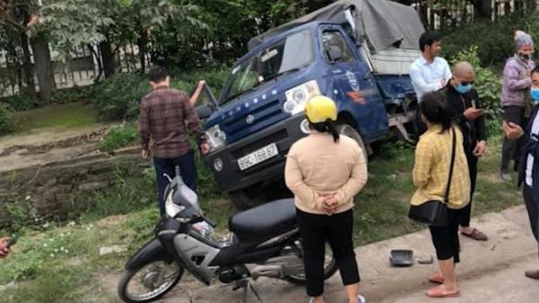 Tai nạn liên hoàn giữa container và 3 xe tải ở Hưng Yên