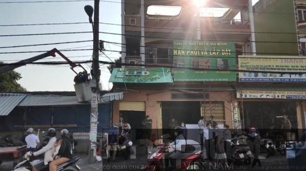 TPHCM: Một công nhân bị điện giật tử vong