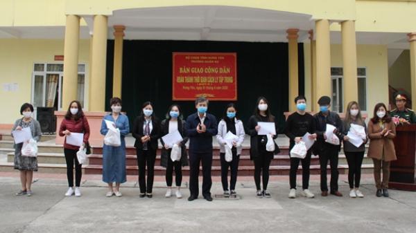 Hưng Yên: Niềm vui ngày hoàn thành cách ly của 334 công dân