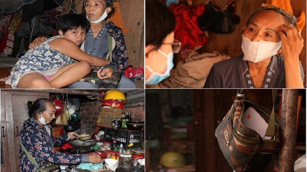 Cám cảnh 2 bà cháu bán vé số dạo sống trong túp lều rách nát cạnh chuồng gà ở TP.HCM