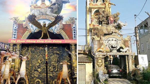 Ngôi nhà độc - dị - lạ chỉ có ở Hưng Yên, trưng bày hàng trăm đồ phong thủy ngoài mặt đường