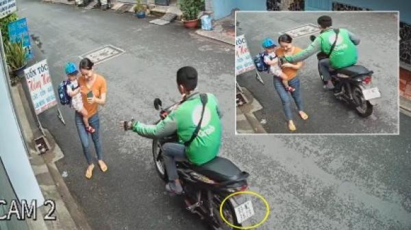 Tài xế mặc áo Grab cướp giật điện thoại nhanh như chớp ở TP.HCM