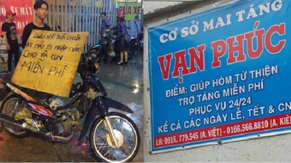 Xe ôm, chữa bệnh, mai táng miễn phí và các tấm lòng vàng ở Sài Gòn