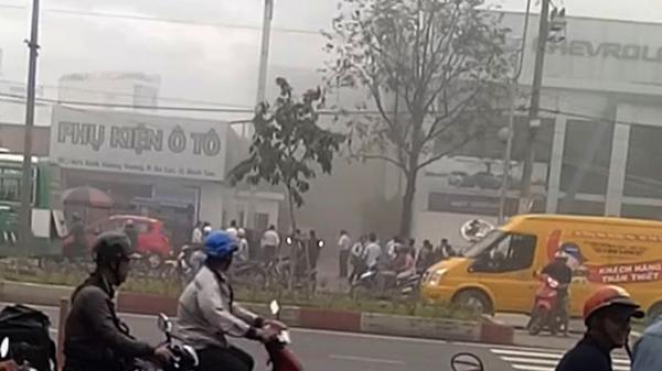 Cháy Công ty ôtô An Thái ở Sài Gòn
