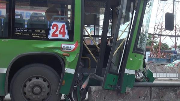 Chục người la hét khi xe buýt gặp nạn ở Sài Gòn